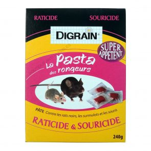 PRODUIT ANTI RAT, SOURIS… PATES 240 GR