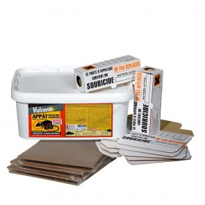PACK ANTI SOURIS 1.5 KG GRAINS + 10 TUNNELS CARTONS + 6 PLAQUES DE GLUE